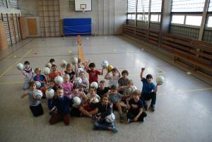 Faustball an der Grundschule Dobel