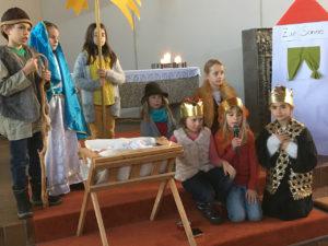 Krippenspiel im Weihnachtsgottesdienst